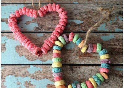 Barnsley Photographer Adele Haywood Preschool Valentine Crafts Fruit Loop Bird Feeder 3